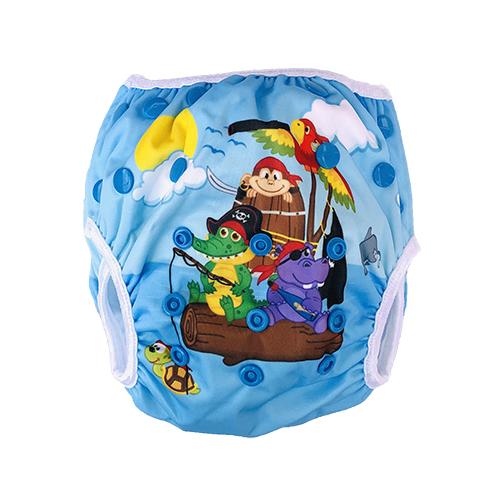 Wasbare zwemluier piraten