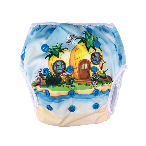 Wasbare zwemluier ananas - Wasbarezwemluiers.nl