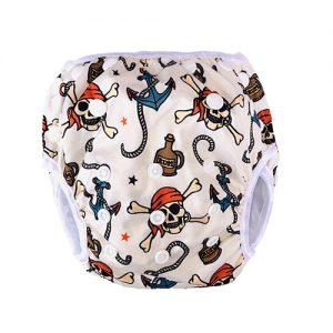 Wasbare zwemluier piraat